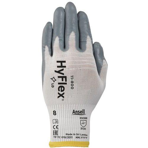 Nylonové rukavice Ansell HyFlex® 11-800 polomáčené v nitrilu, ve