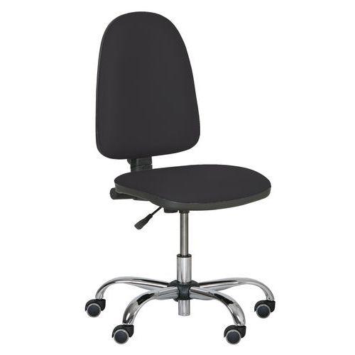 Pracovní židle Torino plus s měkkými kolečky, černá