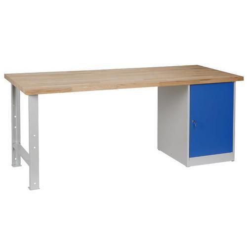 Dílenský stůl Weld se skříňkou 80 cm, 84 x 200 x 80 cm, antracit - Prodloužená záruka na 10 let