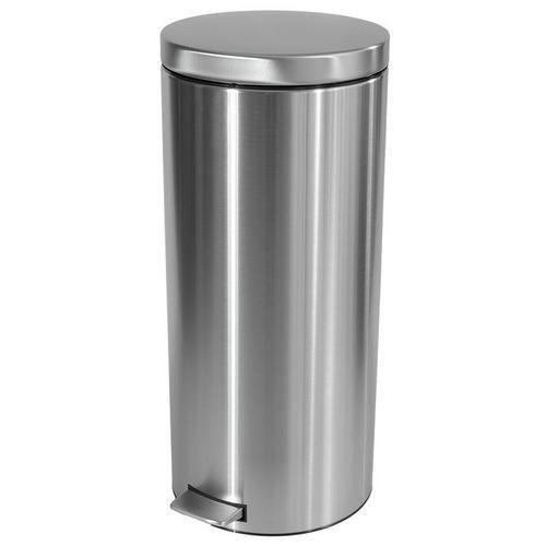 Kovový odpadkový koš Merida Clean, objem 30 l, matný nerez