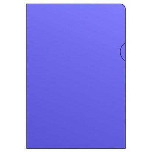 Barevné zakládací obaly L, hladké, 100 ks, modré