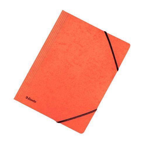 Složka tříklopá s gumou, oranžová