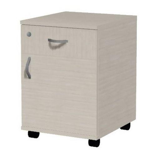 Mobilní kontejner pravý Ergo, 61 x 43 x 54 cm, 1 zásuvka, 1 skříň, dezén javor jersey