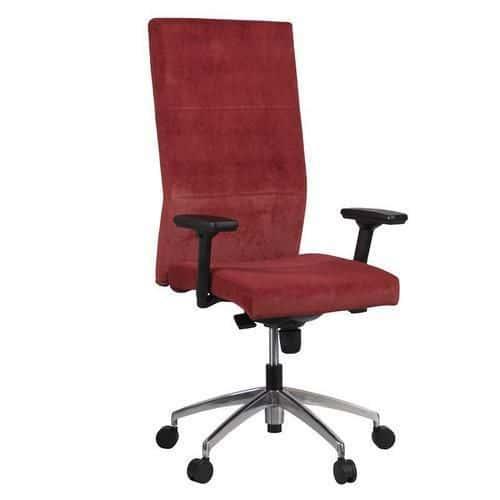 Kancelářské křeslo Vertika, tmavě červené - Prodloužená záruka na 10 let