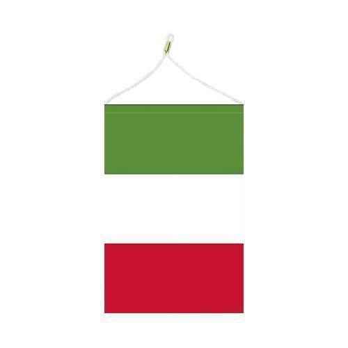 Malá státní vlajka, s očkem pro zavěšení, 16 x 11 cm, Itálie