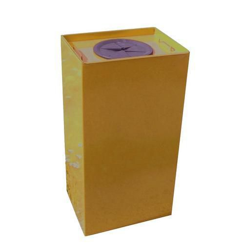 Kovový odpadkový koš Unobox na tříděný odpad, objem 100 l, žlutý