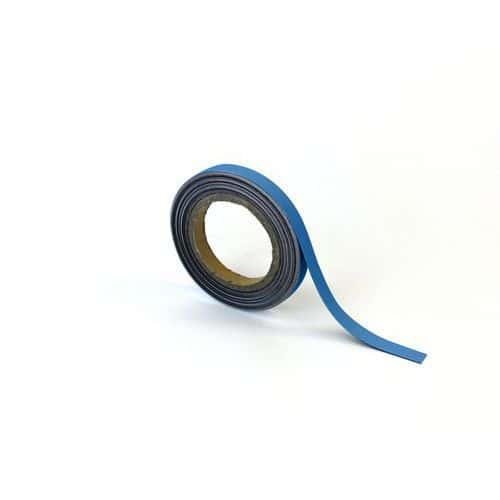 Magnetická páska na regály Manutan, 10 m, modrá, šířka 15 mm