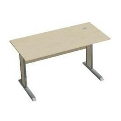 Kancelářský stůl Ergo, 140 x 70 x 75 cm, rovné provedení, javor jersey - Prodloužená záruka na 10 let