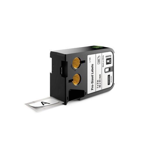 Nařezané štítky XTL, 25x51 mm, černá na bílé, kazeta 100 ks