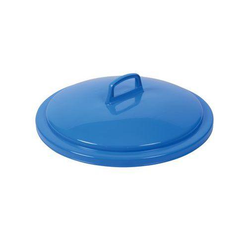 Víko na odpadkové koše, 75 l, modré