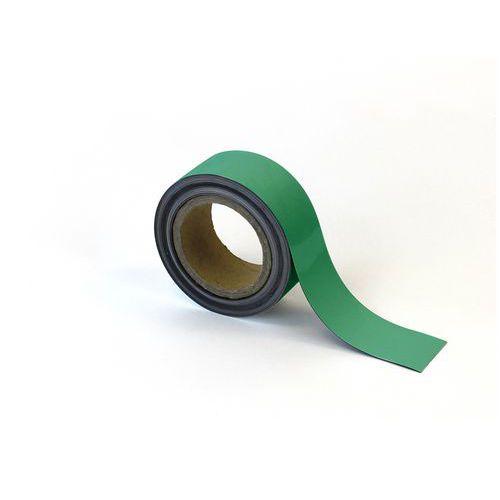 Magnetická páska na regály Manutan, 10 m, zelená, šířka 50 mm
