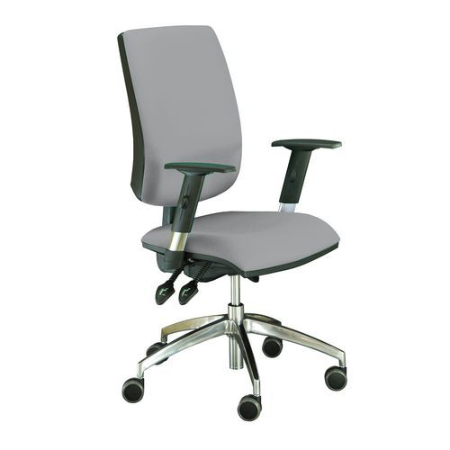 Kancelářská židle Yoki Lux, šedá - Prodloužená záruka na 10 let