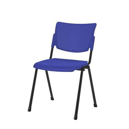 Plastová jídelní židle MIA Black, modrá