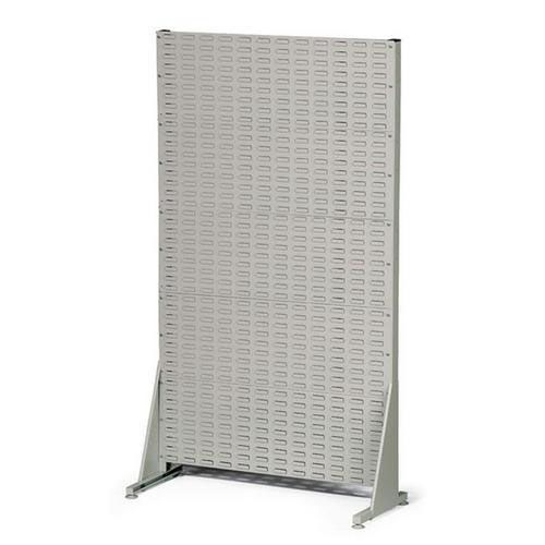 Jednostranný PERFO regál, výška 181 cm, šedý