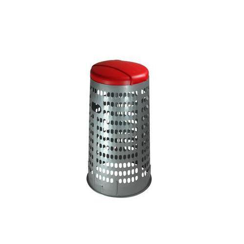Stojan ECO na odpadkové pytle s víkem, červený