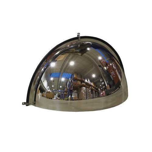 Průmyslové parabolické zrcadlo Manutan, čtvrtkoule, 600 mm