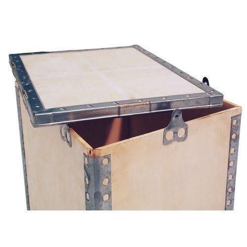 Dřevěný přepravní box s víkem, 60 x 80 x 120 cm