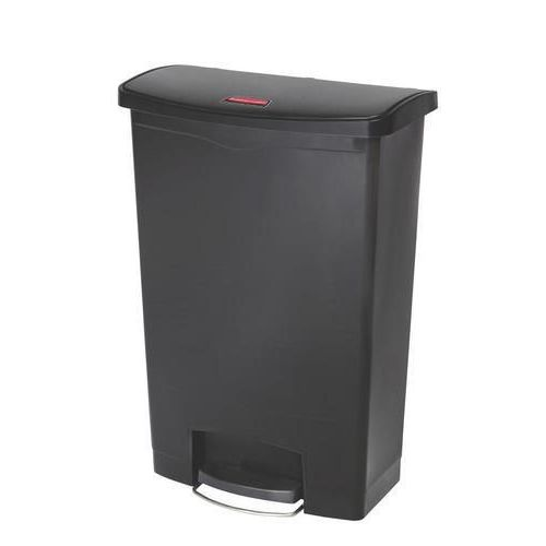 Plastový odpadkový koš Rubbermaid Front Step, objem 90 l, černá - Prodloužená záruka na 10 let