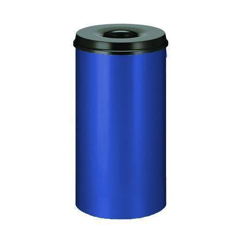 Kovový samozhášecí odpadkový koš Hole, objem 50 l, modrý