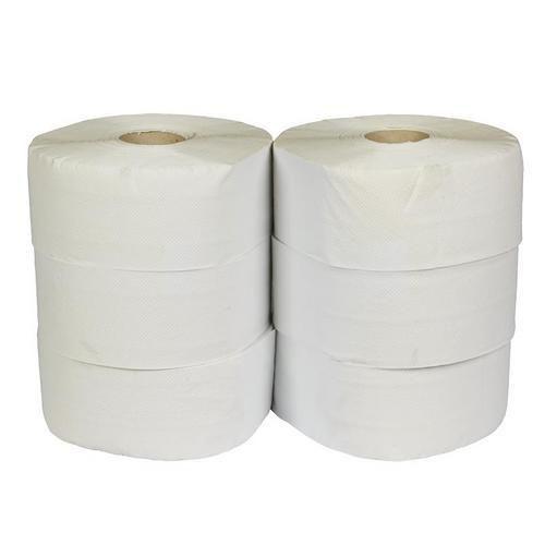 Toaletní papír Jumbo 2vrstvý, 24 cm, 175 m, 75% bílá, 6 rolí