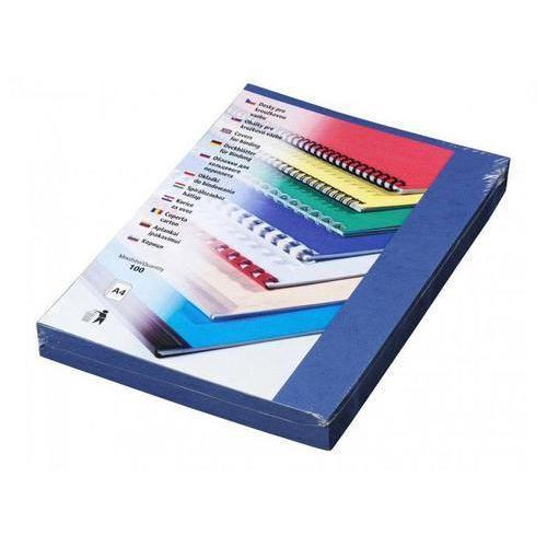 Desky pro kroužkovou vazbu, karton imitace kůže, modré