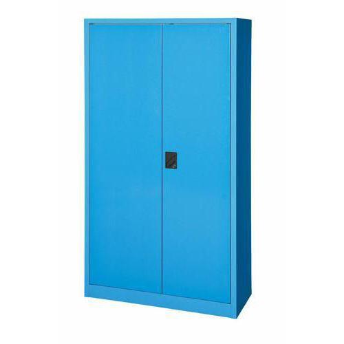 Kovová dílenská skříň, 195 x 104,4 x 62,5 cm, modrá