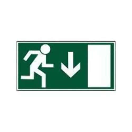 Úniková fotoluminiscenční bezpečnostní tabulka - Únikový východ nad dveře, plast