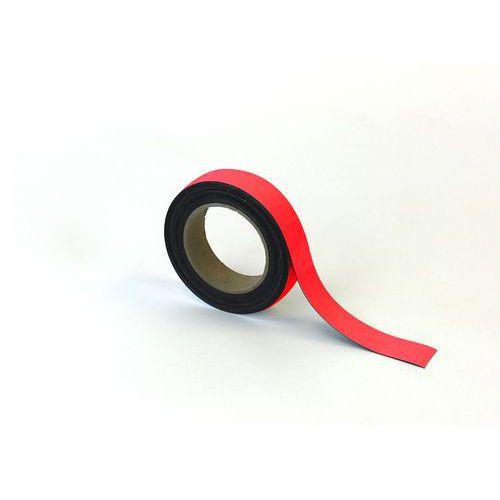 Magnetická páska na regály Manutan, 10 m, červená, šířka 30 mm