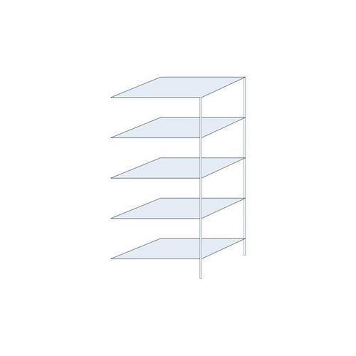 Bezšroubové kovové regály Perun, Max. zatížení police: 150 kg, V