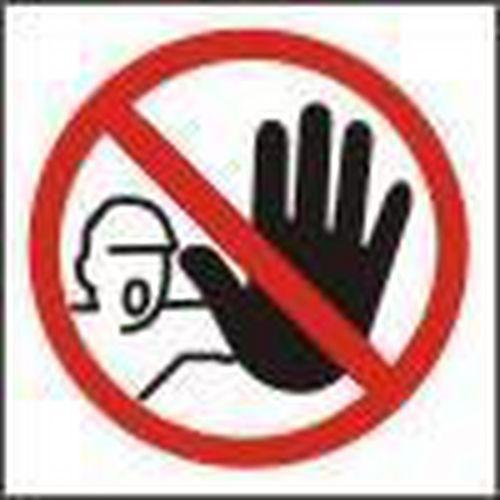 Zákazová bezpečnostní tabulka - Nepovolaným vstup zakázán, 92 x