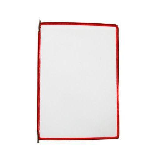 Informační rámeček A4, červený, balení 10 ks