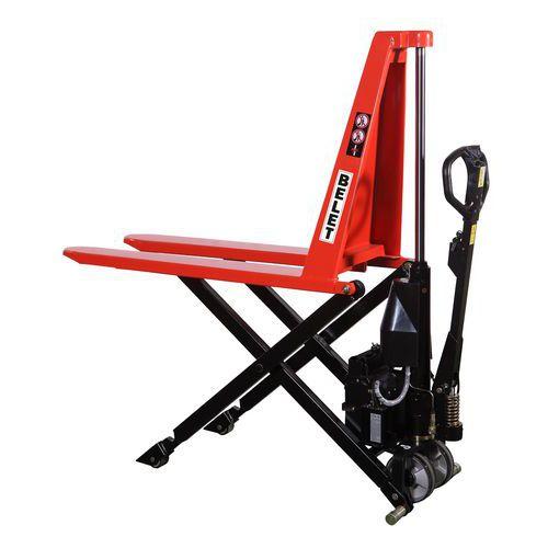 Nůžkový paletový vozík s elektrickým zdvihem, do 1 000 kg, výška