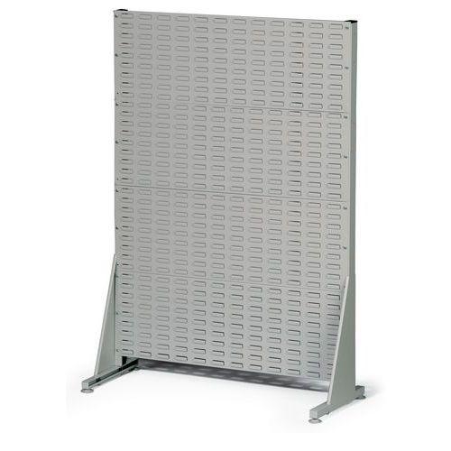 Jednostranný PERFO regál, výška 147 cm, šedý