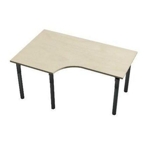 Ergo kancelářský stůl Set line, 160 x 100 x 75 cm, levé provedení, javor jersey - Prodloužená záruka na 10 let