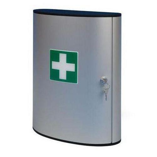 Kovová nástěnná lékárnička, uzamykatelná, 40 x 30,2 x 11,8 cm