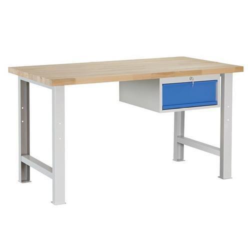 Dílenský stůl Weld se zásuvkou, 84 x 150 x 80 cm, šedý - Prodloužená záruka na 10 let