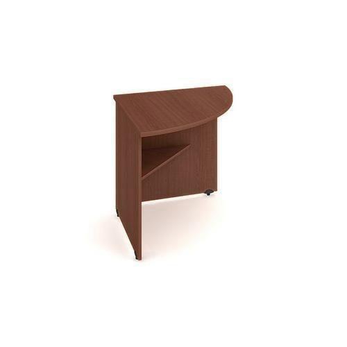 Rohový kancelářský stůl Gate, 80 x 80 x 75,5 cm, pravé provedení, dezén ořech - Prodloužená záruka na 10 let