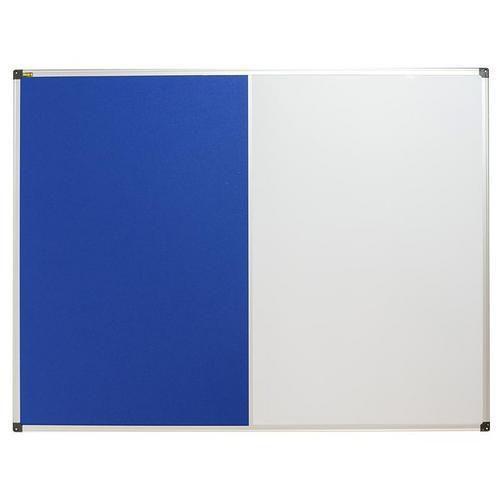 Textilní a magnetická tabule Bi-Office, 90 x 120 cm