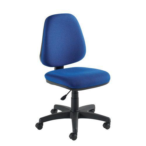 Manutan Kancelářská židle Single, modrá - Prodloužená záruka na 10 let