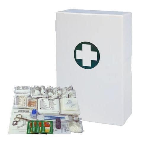 Plastová nástěnná lékárnička, 40 x 27,5 x 12,7 cm, s náplní KANC