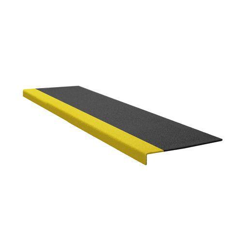 Protiskluzový profil na schody, úzký, černo-žlutý, 60 cm