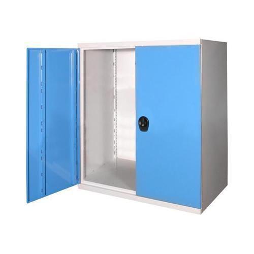 Kovová dílenská skříň, 100 x 104,4 x 62,5 cm, šedá/modrá