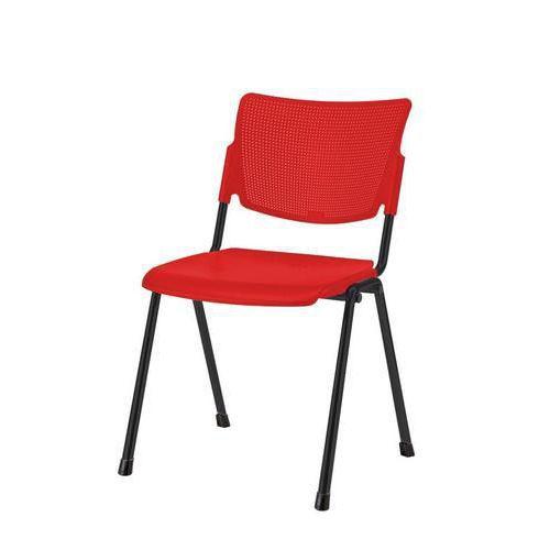 Plastová jídelní židle MIA Black, červená