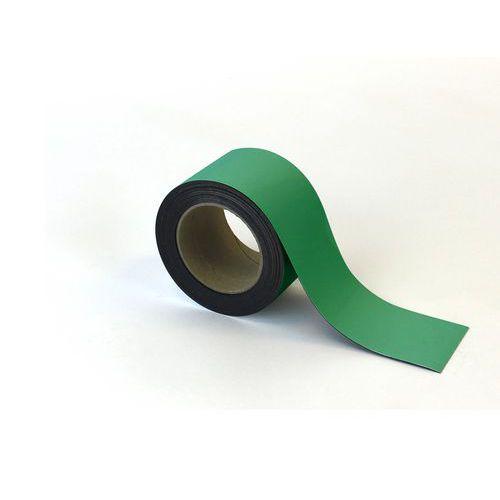 Magnetická páska na regály Manutan, 10 m, zelená, šířka 70 mm