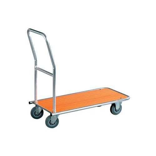 Plošinový vozík s madlem, do 150 kg - Prodloužená záruka na 10 let