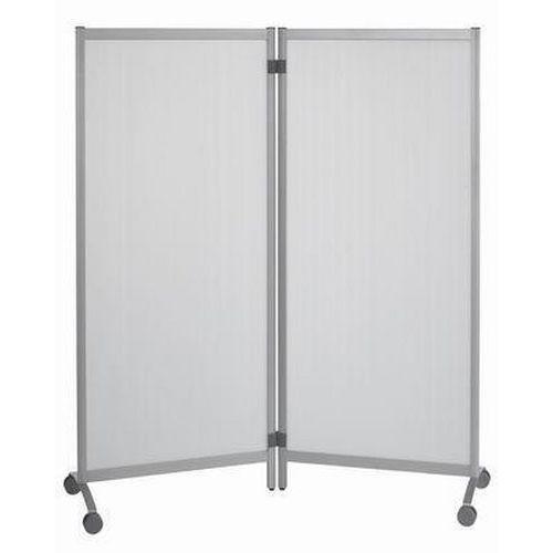 Mobilní dělicí stěny, 170 x 76 x 44 cm, transparentní výplň