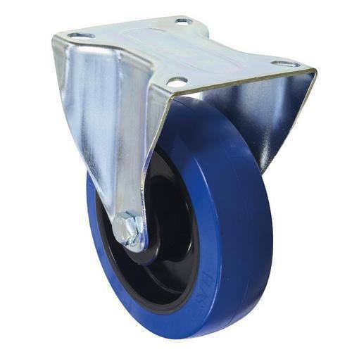 Gumové transportní kolo s přírubou, průměr 160 mm, valivé ložisk