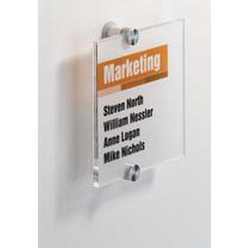 Informační dveřní tabulka Crystal Sign, 148 x 148 mm
