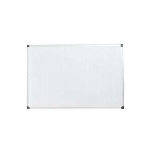 Bílá magnetická tabule Bi-Office s rastrem, 60 x 90 cm