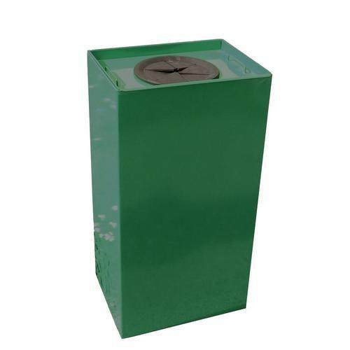 Kovový odpadkový koš Unobox na tříděný odpad, objem 100 l, zelený - Prodloužená záruka na 10 let